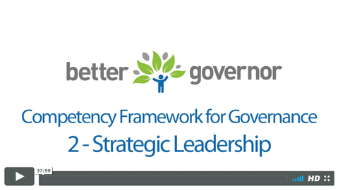 Competency Framework for Governance - Strategic Leadership webinar replay